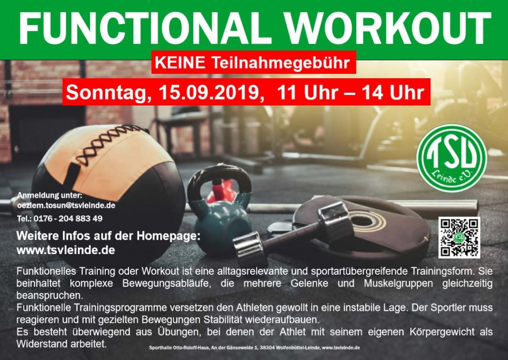 Workshop functional workout am 15.09.2019