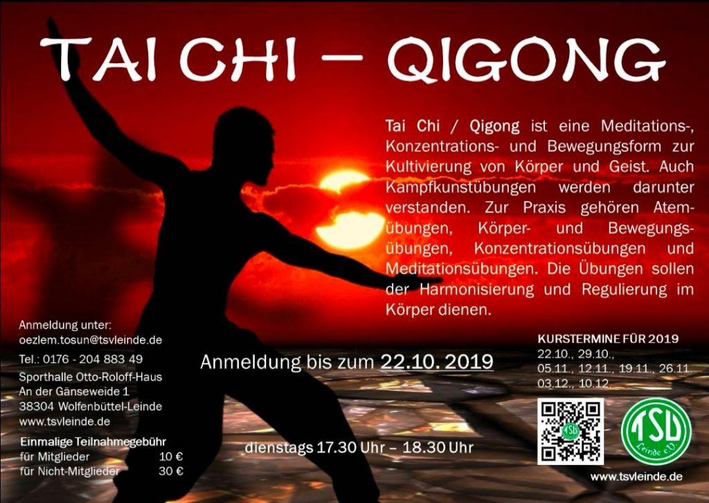 TAI CHI – QIGONG ab 22.10.2019