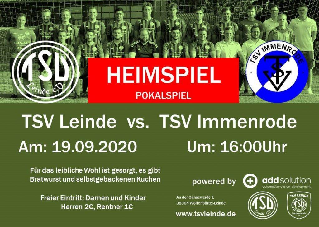 Freundschaftsspiel  1. Herren gegen TSV Immenrode am 19.09.2020
